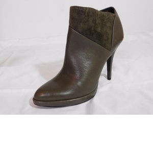 NEW Aerin Bennett Suede Inset Leather Ankle Boot
